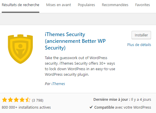 ithemes security installation